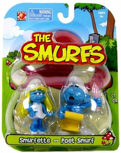 Smurfs 2 Inch Articulated Mini Figure 2-Pack Smurfette & Poet