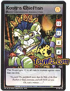 Neopets Trading Card Game Mystery Island Holofoil Rare Single #9 Kougra Chieftain