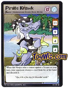 Neopets Trading Card Game Mystery Island Holofoil Rare Single #10 Pirate Krawk