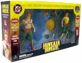DC Direct Deluxe Action Figure Two-Pack Hawkman & Hawkgirl Rare!