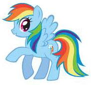 My Little Pony Friendship is Magic 5 Inch Plush Rainbow Dash