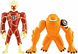Ben 10 Alien Creation Chamber Mini Figure 2-Pack Heatblast & Wildmutt
