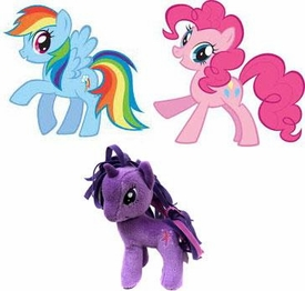 My Little Pony Friendship is Magic 5 Inch Set of 3 Plush [Twilight Sparkle, Pinkie Pie & Rainbow Dash]