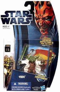 Star Wars 2012 Clone Wars Action Figure #05 Yoda [Includes Lightsaber!]