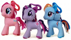 My Little Pony Friendship is Magic 3 Inch Set of 3 Plush Clips [Pinkie Pie, Rainbow Dash & Twilight Sparkle]