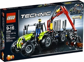 LEGO Technic Set #8049 Tractor with Log Loader