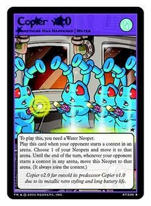 Neopets Trading Card Game Rare Single Card #47 Copier v2.0