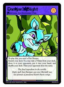 Neopets Trading Card Game Rare Single Card #48 Darigan's Blight