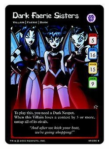 Neopets Trading Card Game Rare Single Card #49 Dark Faerie Sisters