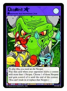 Neopets Trading Card Game Rare Single Card #50 Dissent