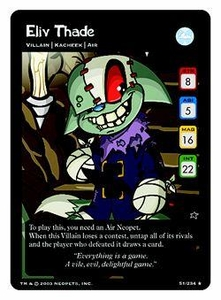 Neopets Trading Card Game Rare Single Card #51 Eliv Thade