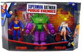 Mattel DC Superman Batman Public Enemies Action Figure 3-Pack Superman, Lex Luthor & Power Girl
