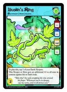 Neopets Trading Card Game Rare Single Card #57 Illusen's Ring