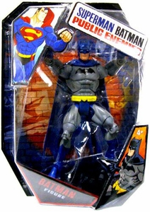 Mattel DC Superman Batman Public Enemies Action Figure Batman  [Build Brimstone Piece!] [Blue Cape]