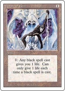 Magic the Gathering Revised Edition Single Card Uncommon Throne of Bone