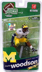 McFarlane Toys NCAA COLLEGE Football Sports Picks Series 3 Action Figure Charles Woodson (Michigan Wolverines) White Jersey Bronze Collector Level Only 1,000 Made!