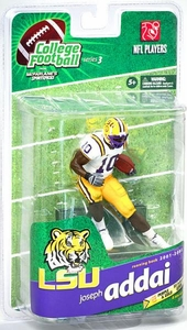 McFarlane Toys NCAA COLLEGE Football Sports Picks Series 3 Action Figure Joseph Addai (LSU Tigers) White Jersey