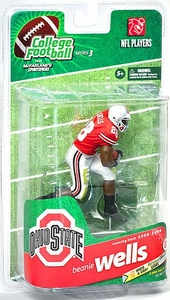 McFarlane Toys NCAA COLLEGE Football Sports Picks Series 3 Action Figure Beanie Wells (Ohio State Buckeyes) Red Jersey