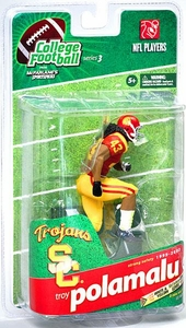 McFarlane Toys NCAA COLLEGE Football Sports Picks Series 3 Action Figure Troy Polamalu (USC Trojans) Red Jersey