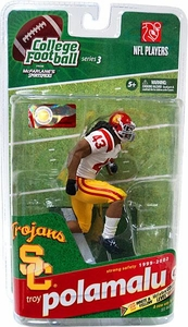 McFarlane Toys NCAA COLLEGE Football Sports Picks Series 3 Action Figure Troy Polamalu (USC Trojans) White Jersey Bronze Collector Level Only 1,250 Made!
