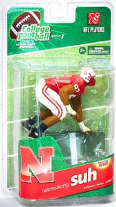 McFarlane Toys NCAA COLLEGE Football Sports Picks Series 3 Action Figure Ndamukong Suh (Nebraska Cornhuskers)