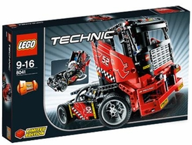 LEGO Technic Exclusive Limited Edition Set #8041 Race Truck Damaged Package, Mint Contents!