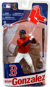 McFarlane Toys MLB Sports Picks Series 28 Extended Action Figure Adrian Gonzalez (Boston Red Sox)