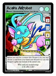 Neopets Trading Card Game Rare Single Card #37 Acara Acrobat