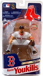McFarlane Toys MLB Sports Picks Series 28 Action Figure Kevin Youkilis (Boston Red Sox) White Jersey Bronze Collector Level Only 2,000 Made!