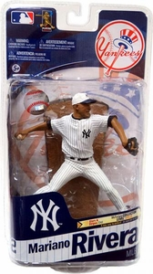 McFarlane Toys MLB Sports Picks Series 28 Action Figure Mariano Rivera (New York Yankees) White Hat Gold Collector Level Only 500 Made! Damaged Package, Mint Contents!