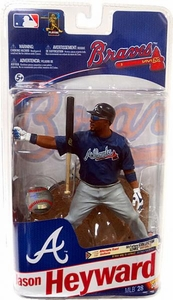 McFarlane Toys MLB Sports Picks Series 28 Action Figure Jason Heyward (Atlanta Braves) Blue Jersey Silver Collector Level Chase Only 1,000 Made!