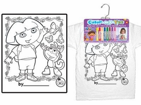 Color My Tee Child T-Shirt Dora