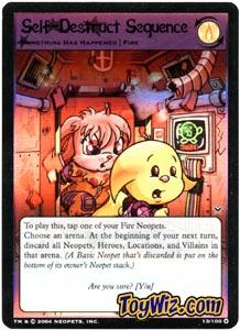 Neopets Trading Card Game Return of Dr. Sloth Holofoil Rare Single #13 Self-Destruct Sequence