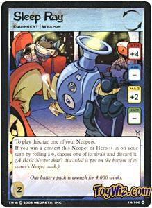 Neopets Trading Card Game Return of Dr. Sloth Holofoil Rare Single #14 Sleep Ray
