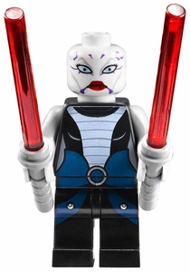 LEGO Star Wars LOOSE Mini Figure Asajj Ventress with Twin Lightsabers