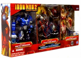 Iron Man 2 Movie Exclusive Concept Series 6 Inch Action Figure 3-Pack Mission Tech Armor [Arctic Crusader Iron Man, Star Flare & Sandstorm]