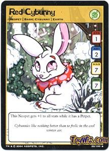 Neopets Trading Card Game Return of Dr. Sloth Rare Single #22 Red Cybunny
