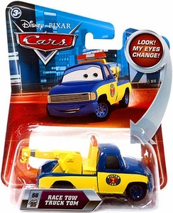Disney / Pixar CARS Movie 1:55 Die Cast Car with Lenticular Eyes Series 2 Race Tow Truck Tom