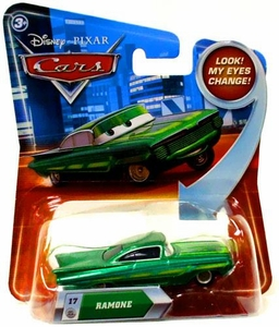 Disney / Pixar CARS Movie 1:55 Die Cast Car with Lenticular Eyes Series 2 Green Ramone