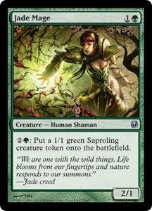 Magic the Gathering Duel Decks: Ajani vs. Nicol Bolas Single Card Green Uncommon #7 Jade Mage