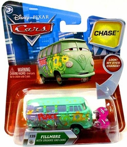 Disney / Pixar CARS Movie 1:55 Die Cast Car with Lenticular Eyes Series 2 Fillmore with Organic Gas Cans Chase Piece!