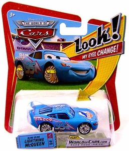 Disney / Pixar CARS Movie 1:55 Die Cast Car with Lenticular Eyes Series 1 Bling Bling McQueen