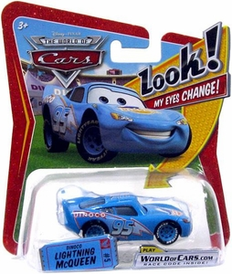 Disney / Pixar CARS Movie 1:55 Die Cast Car with Lenticular Eyes Series 1 Dinoco Lightning McQueen