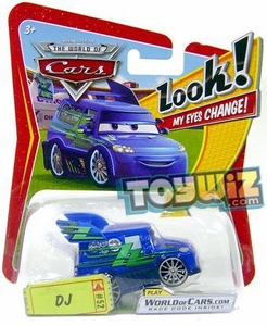 Disney / Pixar CARS Movie 1:55 Die Cast Car with Lenticular Eyes Series 1 DJ