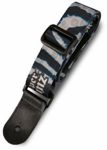 Paper Jamz Instant Rock Star Series 1 Guitar Strap Blue & White Spiral [Style 6]