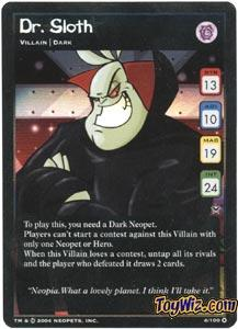Neopets Trading Card Game Return of Dr. Sloth Holofoil Rare Single #4 Dr. Sloth