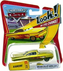 Disney / Pixar CARS Movie 1:55 Die Cast Car with Lenticular Eyes Series 1 Gold Ramone