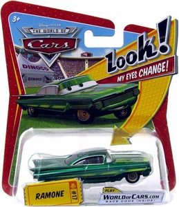 Disney / Pixar CARS Movie 1:55 Die Cast Car with Lenticular Eyes Series 1 Green Ramone