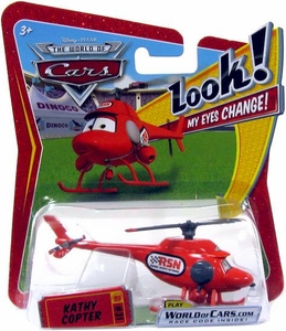 Disney / Pixar CARS Movie 1:55 Die Cast Car with Lenticular Eyes Kathy Copter [Random Package]