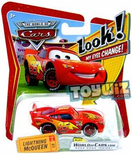 Disney / Pixar CARS Movie 1:55 Die Cast Car with Lenticular Eyes Series 1 Lightning McQueen
